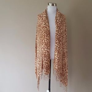 Scarf Wrap Large Viscose Made In India Leopard
